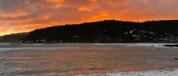 A sunset at Lyall Bay